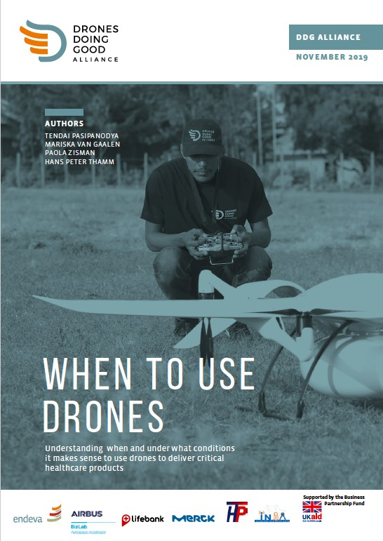 When to use drones: understanding when and under what conditions it makes sense to use drones to deliver critical healthcare products